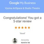 A Google review of 5 stars for Vyoma