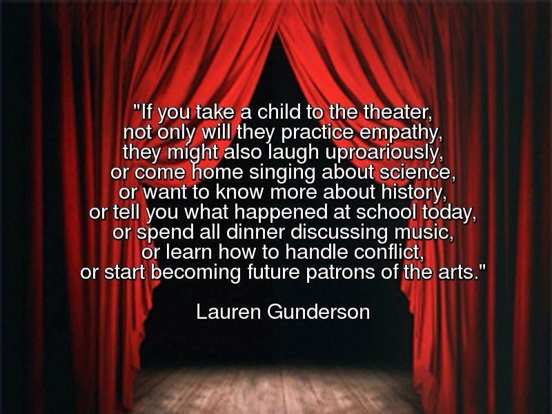 A quote about theatre